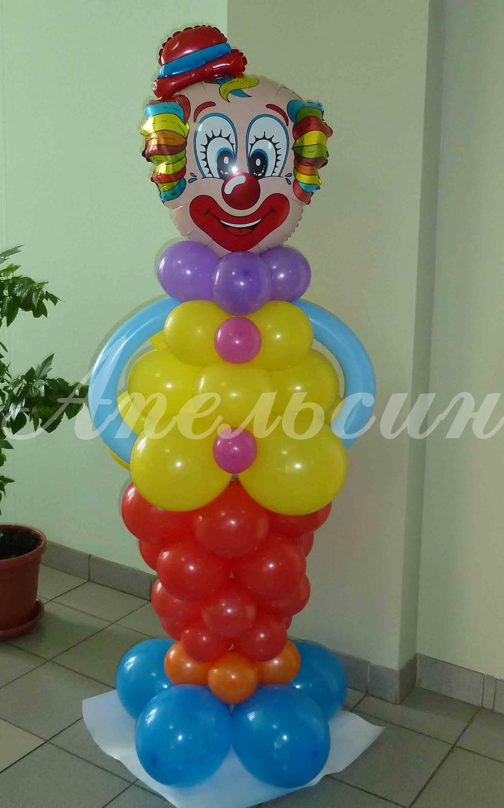 Клоун из воздушных шаров своими руками 114